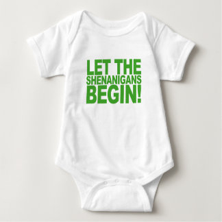 Let the Shenanigans Begin Shirts.png Baby Bodysuit