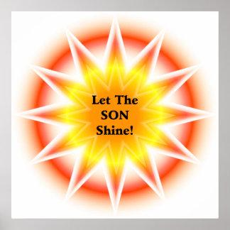 Let The SON shine Print