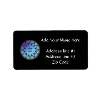 """Let the Son shine"" sunburst in blue Personalized Address Label"