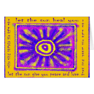 Let the Sun Heal You Card