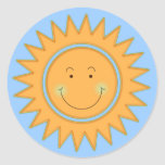 Let the Sun Shine In Round Stickers
