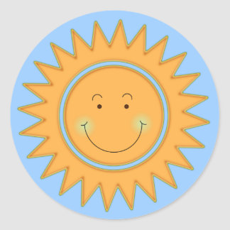 Let the Sun Shine In Classic Round Sticker