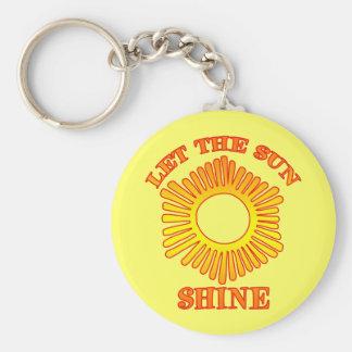 Let The Sun Shine Keychain