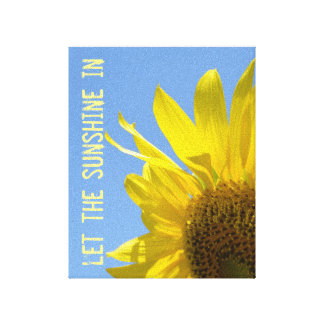 Let the Sunshine, Sunflower Wall Canvas