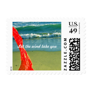 Let the wind take you postage