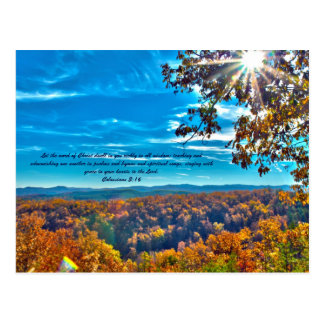 Let the word of Christ dwell in you richly in all Postcard