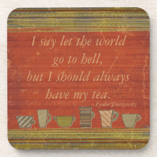 Let the World Go Rusty Red Stripes Coasters