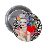 Let them eat cake 2 inch round button