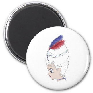 Let them eat cake 2 inch round magnet