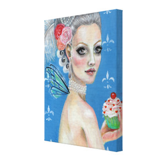 Let them eat cake stretched canvas print