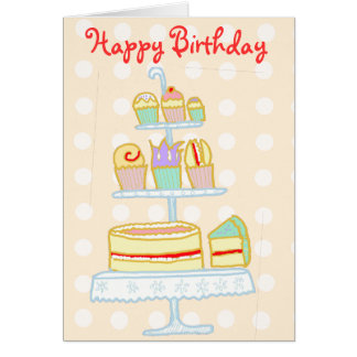 Let Them Eat Cake Greeting Card