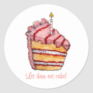 Let them eat cake! classic round sticker
