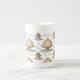Let Them Eat Cake French Pastries - Vintage Style Tea Cup