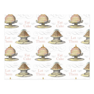 Let Them Eat Cake French Pastry Chef Postcard