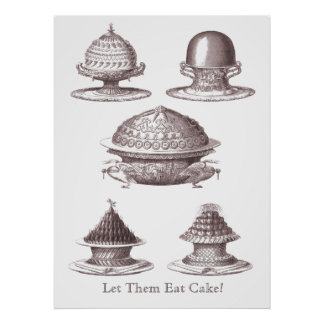 Let Them Eat Cake! French Souffles Antique Print
