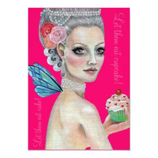 Let them eat cake 5x7 paper invitation card