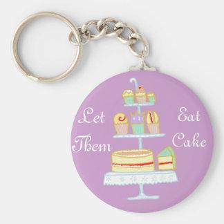 Let Them Eat Cake Keychain