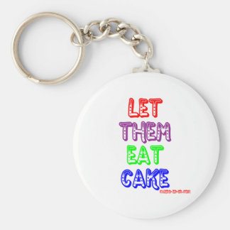 Let them eat cake keychains