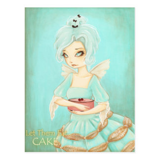 Let Them Eat Cake - marie antoinette postcard