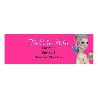 Let them eat cake mini business card
