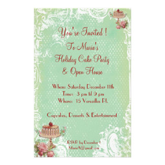 Let Them Eat Cake Party Invitations Flyer Design