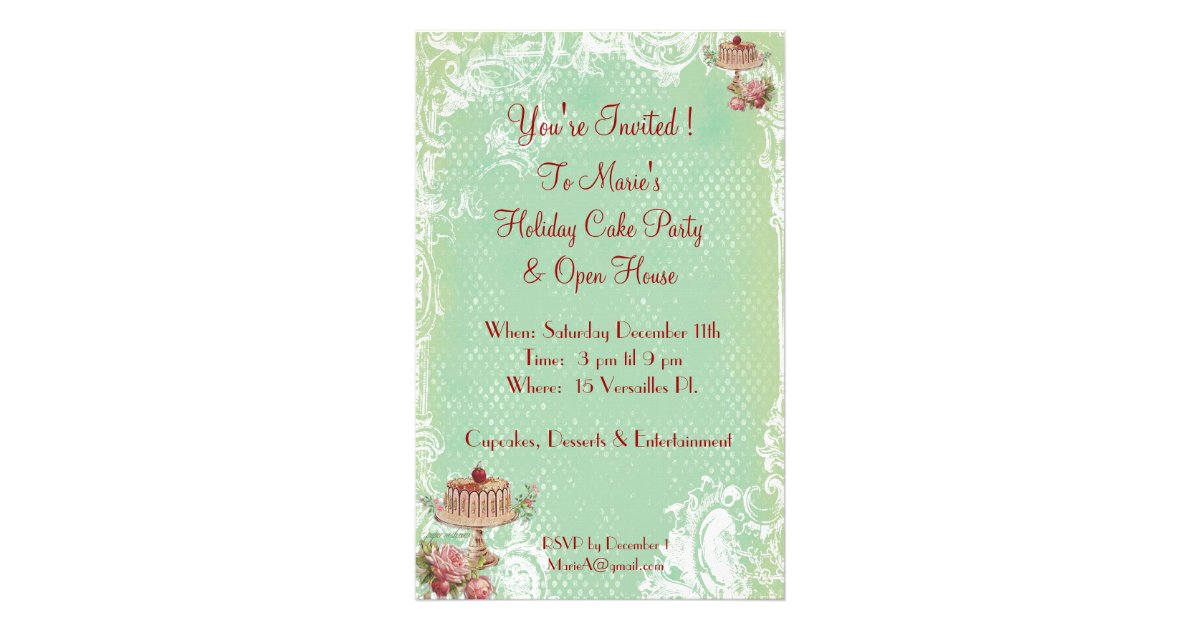 Let Them Eat Cake Party Invitations Flyer | Zazzle.com