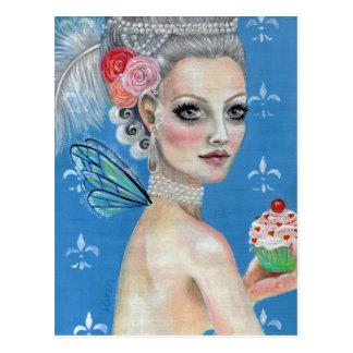 Let them eat cake postcard