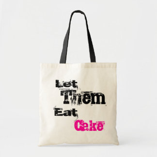 Let Them Eat Cake Punk Tote Bags
