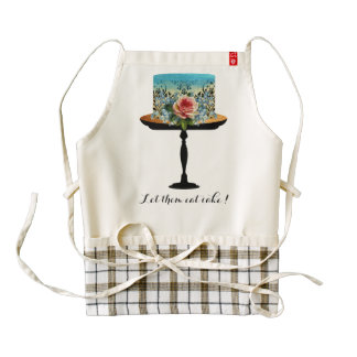 Let them eat cake rose flower Zazzle heart apron