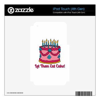 Let Them Eat Cake Decals For iPod Touch 4G