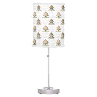 Let Them Eat Cake Vintage Bakery Pastry Shop Table Lamp