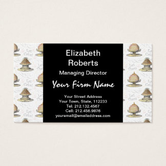 Let Them Eat Cake Vintage French Marie Antoinette Business Card