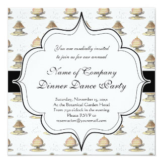Let Them Eat Cake Vintage French Marie Antoinette 5.25x5.25 Square Paper Invitation Card
