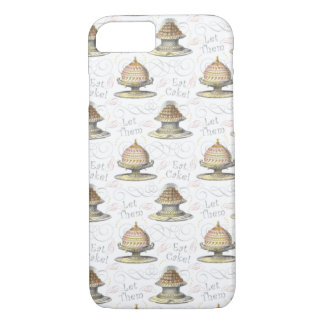 Let Them Eat Cake Vintage French Marie Antoinette iPhone 8/7 Case
