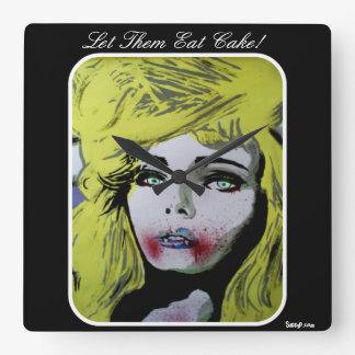 'Let Them Eat Cake!' Wall Clock