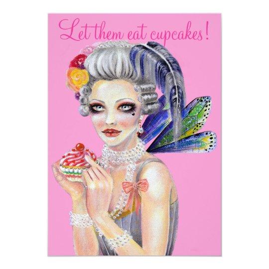 Let them eat cupcake card