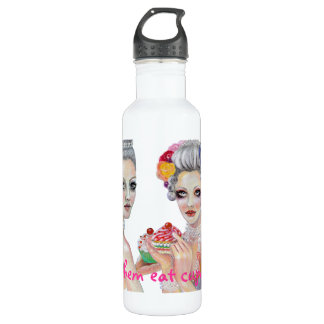 Let them eat cupcakes Marie Antoinette Stainless Steel Water Bottle