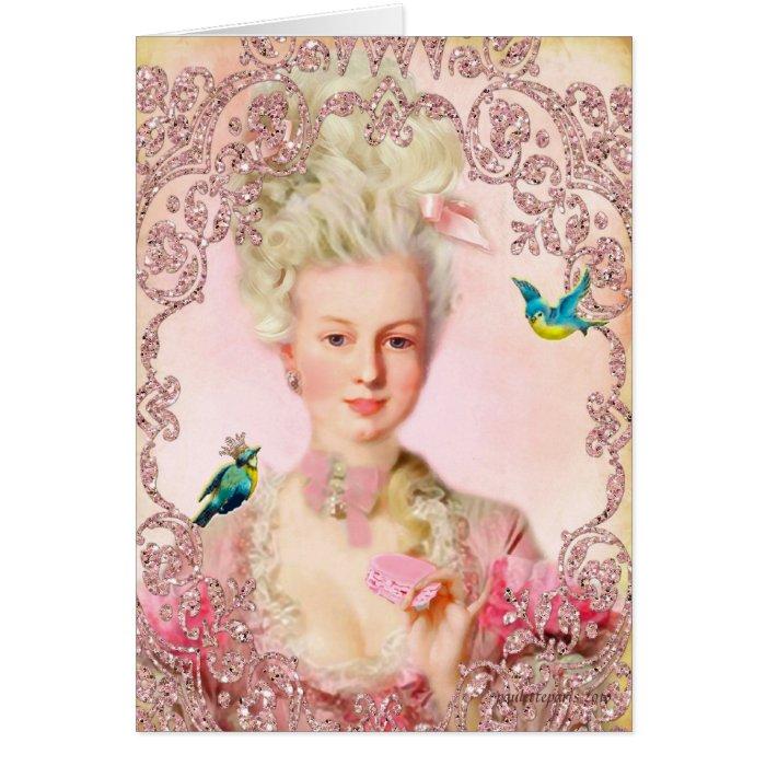 Let Them Eat Macarons Marie Antoinette Cards