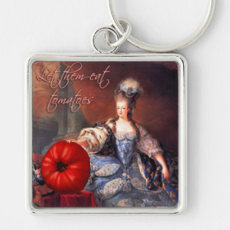 Let Them Eat Tomatoes Keychain