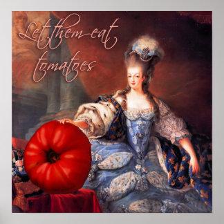 Let Them Eat Tomatoes Semi Fine Art Poster
