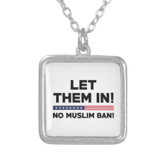 Let Them In! Silver Plated Necklace