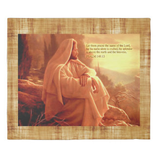 Let them Praise the name of the Lord..Psalm:148 Duvet Cover