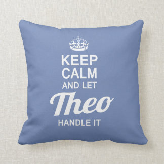 Let THEO Handle It Throw Pillow