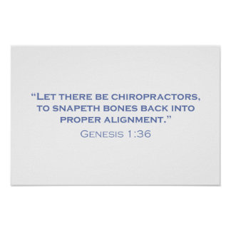 Let there be Chiropractors Poster