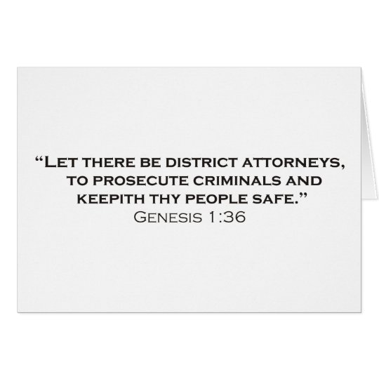Let there be District Attorneys Card