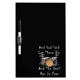 Let there Be Drummers Dry Erase Board