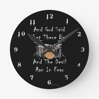 Let there Be Drummers Round Clock