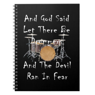Let there Be Drummers Spiral Notebook