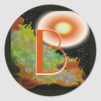 Let There Be Light-Abstract 14 Creation.jpg Classic Round Sticker