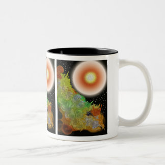 Let There Be Light Abstract Two-Tone Coffee Mug